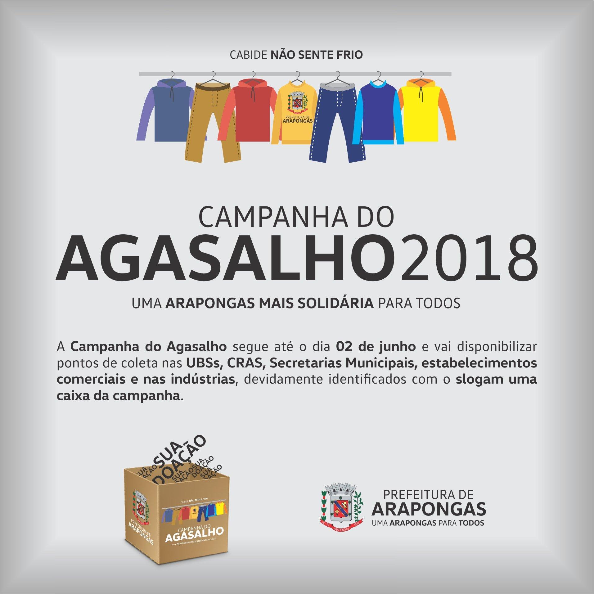 Prefeitura vai lançar Campanha do Agasalho 2018 e83d086d28e34